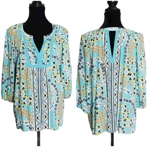 Crown & Ivy Tunic Blouse Size M